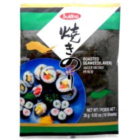 Alga sushi e temaki nori Sukina 10fls