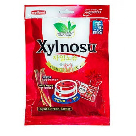 Bala de Xylitol menta e ginseng vermelho Xylnosu 68g