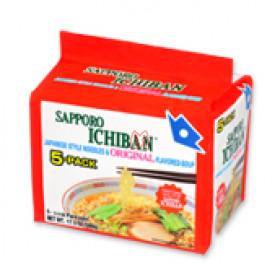 Macarrão lamen japonês sabor shoyu Sapporo Ichiban
