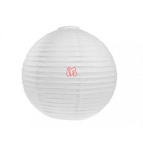 Lanterna oriental branca 40 cm