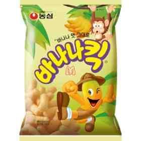 Salgadinho coreano sabor banana  Nong Shim