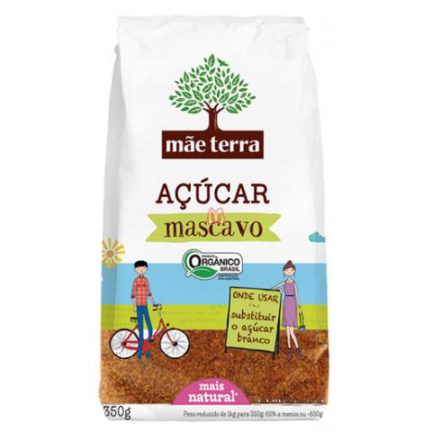 AÇUCAR MASCAVO ORGANICO MÃE TERRA 350g