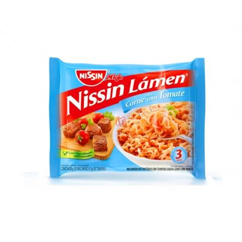 Lamen Nissin Carne com Tomate
