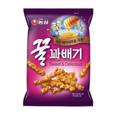 Salgadinho Coreano de Mel com maçã