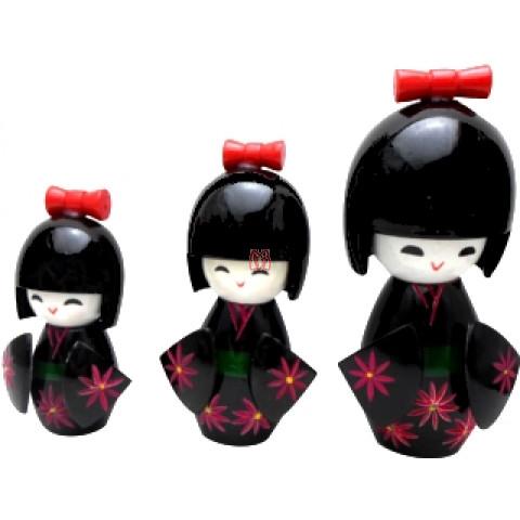 Trio de Kokeshi