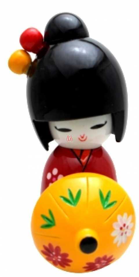 Boneca Kokeshi Vermelha