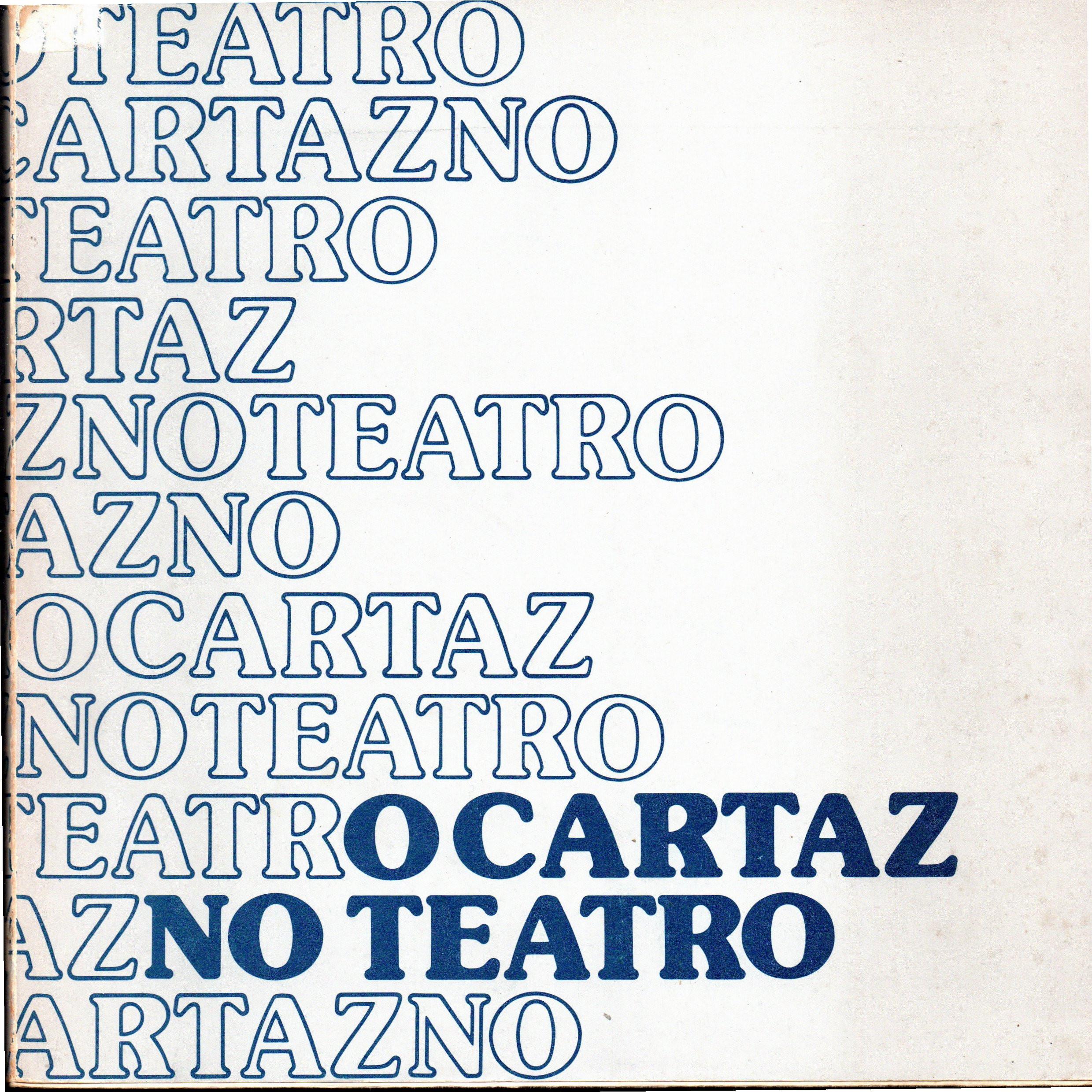 O cartaz no teatro