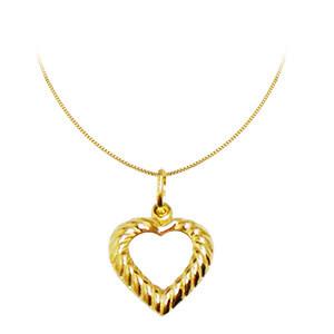 Colar em Ouro 18k com Pingente Coração