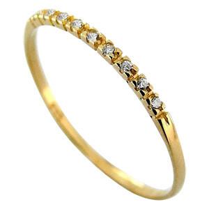 Meia Aliança em Ouro 18k com Diamantes