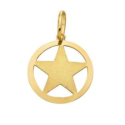 Pingente Estrela de Abraão em Ouro 18k