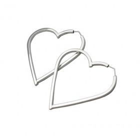 Argola de Coração em Ouro Branco