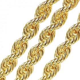 Corrente em Ouro 18k Maciço Modelo Corda
