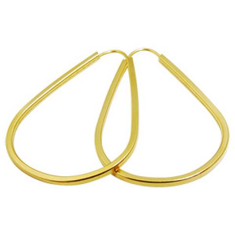 Argola Oval em Ouro 18k
