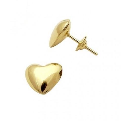 Brinco Coração em Ouro Maciço 18k