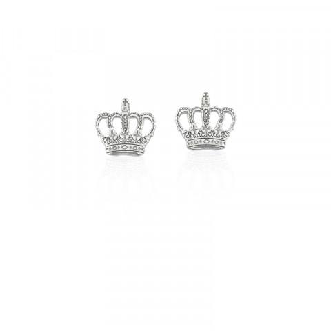 Brinco de Prata 925 Modelo Coroa