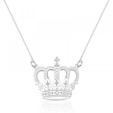 Colar em Prata 925 Coroa