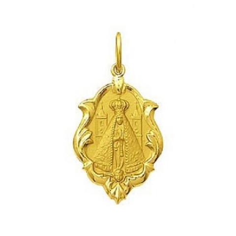 Medalha Nossa Senhora De Aparecida em Ouro 18k