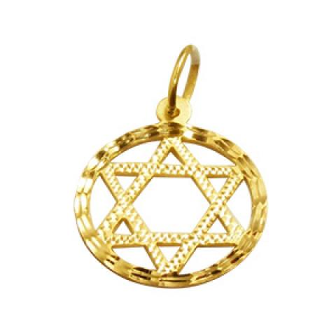 Pingente Estrela de Davi 6 Pontas em Ouro 18k