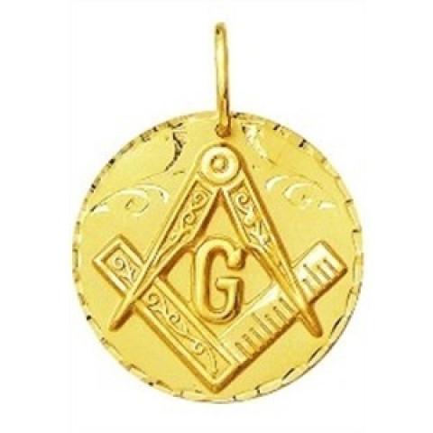 Pingente Maçonaria em Ouro 18k