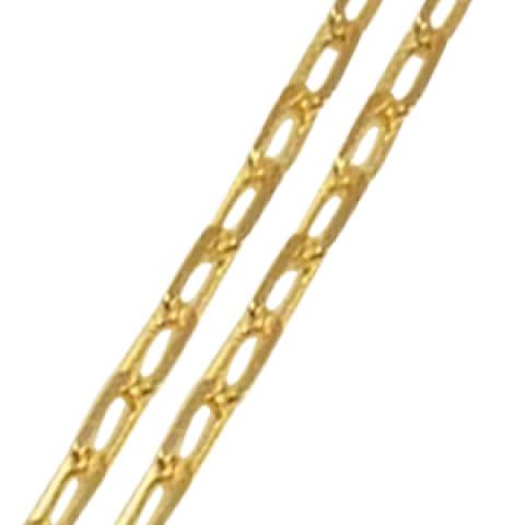 Tornozeleira em Ouro 18k Elos Retangulares
