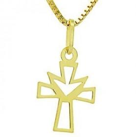 Pingente Mini Cruz em Ouro 18k
