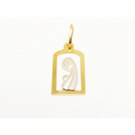 Pingente Santa Maria em Ouro 18k