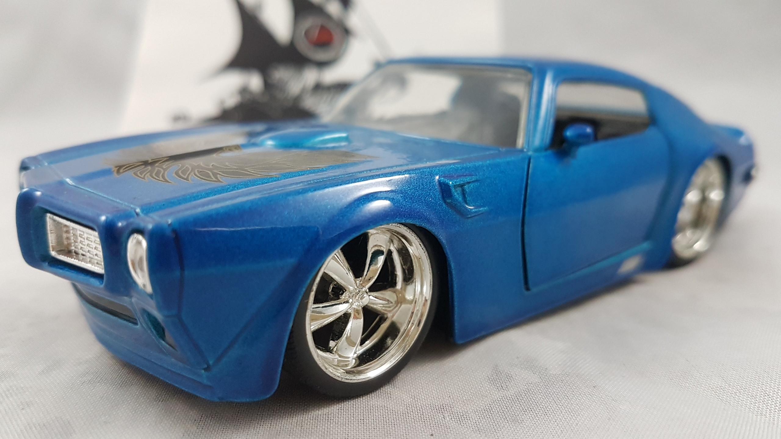 1972 Pontiac Firebird Azul com Águia 1:32 Jada