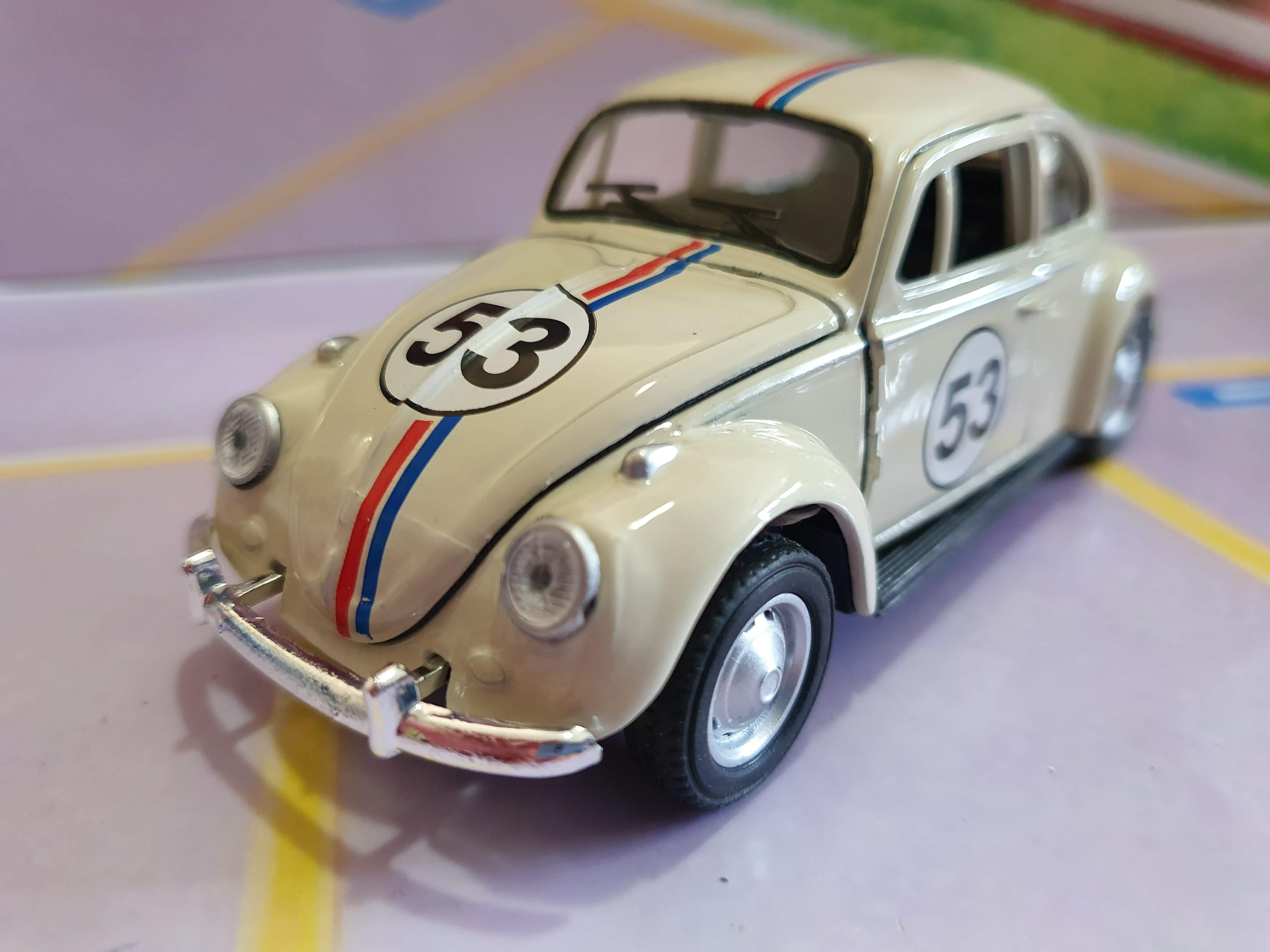 VW Fusca Herbie 1967 Abre Capô RMZ 1:32 Old Beetle