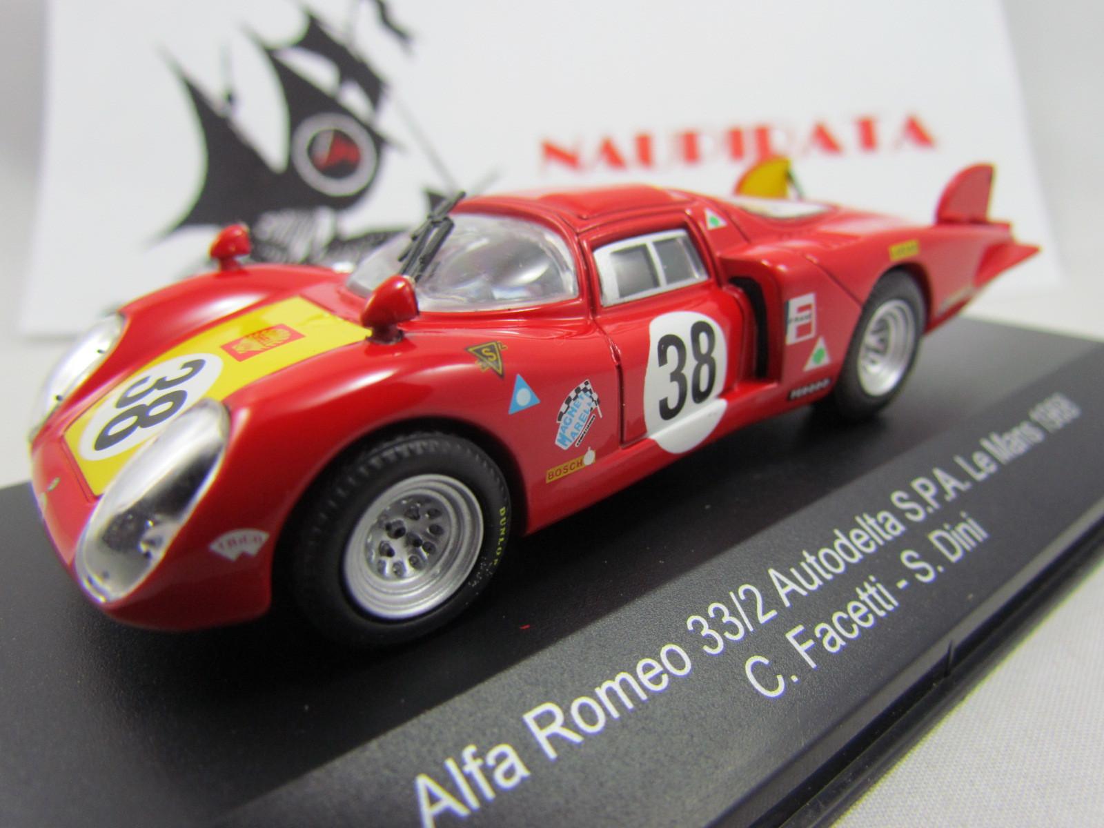 Alfa Romeo - 33/2 Autodelta S.P.A. Nº 38 Le Mans 1968 C. FACETTI - S. DINI - Top Model Collection - 1:43