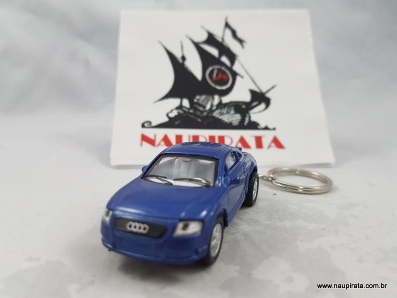 Chaveiro Audi TT Coupé Azul 1:64 Kinsmart