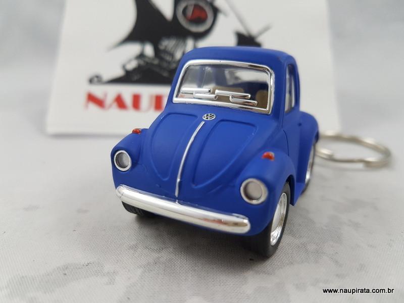 Chaveiro Little Beetle Azul Fosco Kinsmart