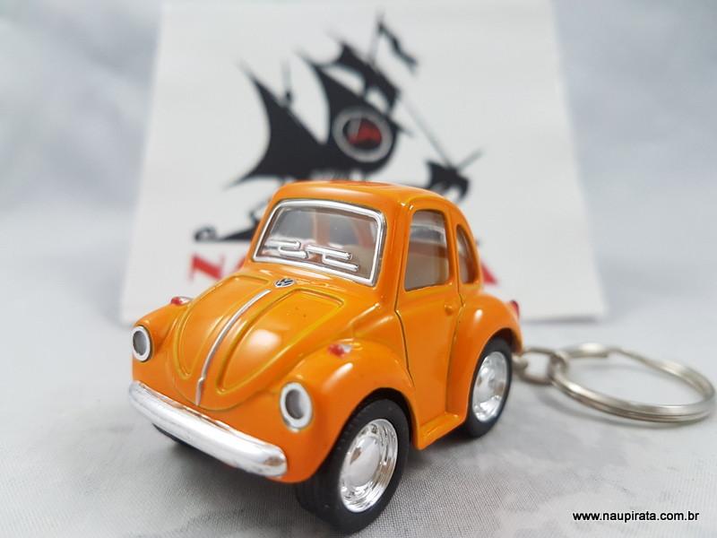Chaveiro Little Beetle Fusca Laranja Kinsmart
