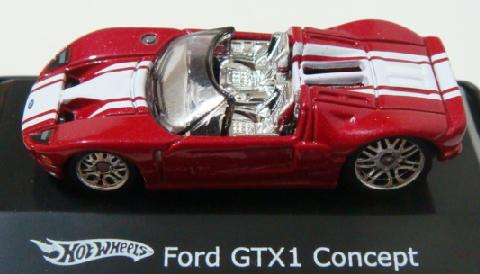 Ford GTX1 Concept Vermelho/Branco Mattel  1:87