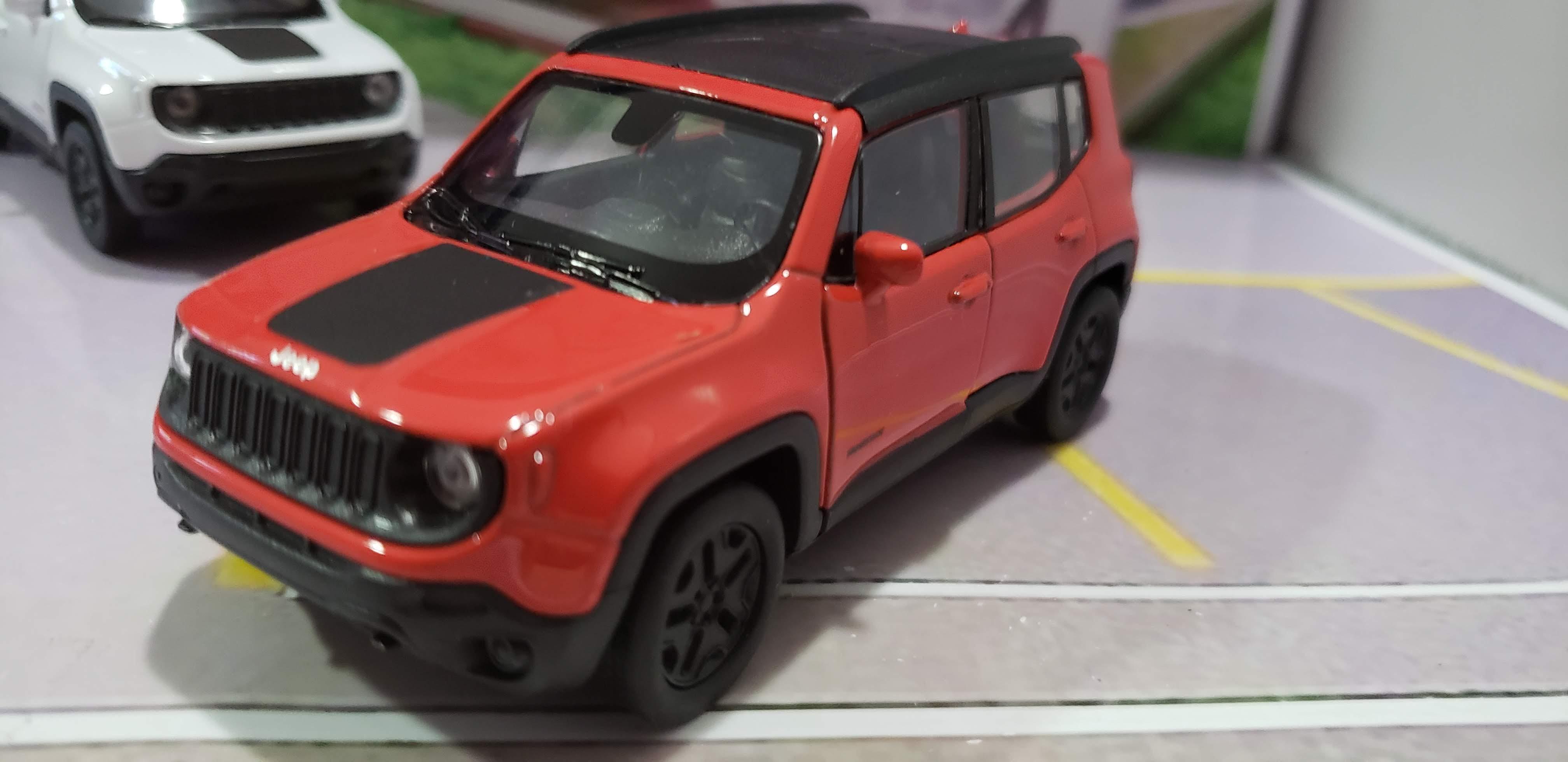 Jeep Renegade Trailhawk 2017 Vermelho Welly 1:38
