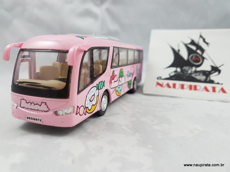 Ônibus Coach Dessert Bus Rosa  Kinsmart