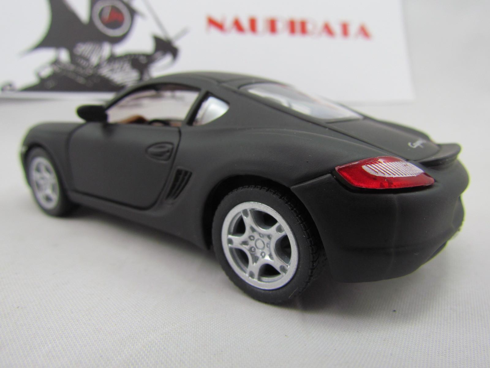 Porsche (Matte) Cayman S Preto Fosco Kinsmart 1:34