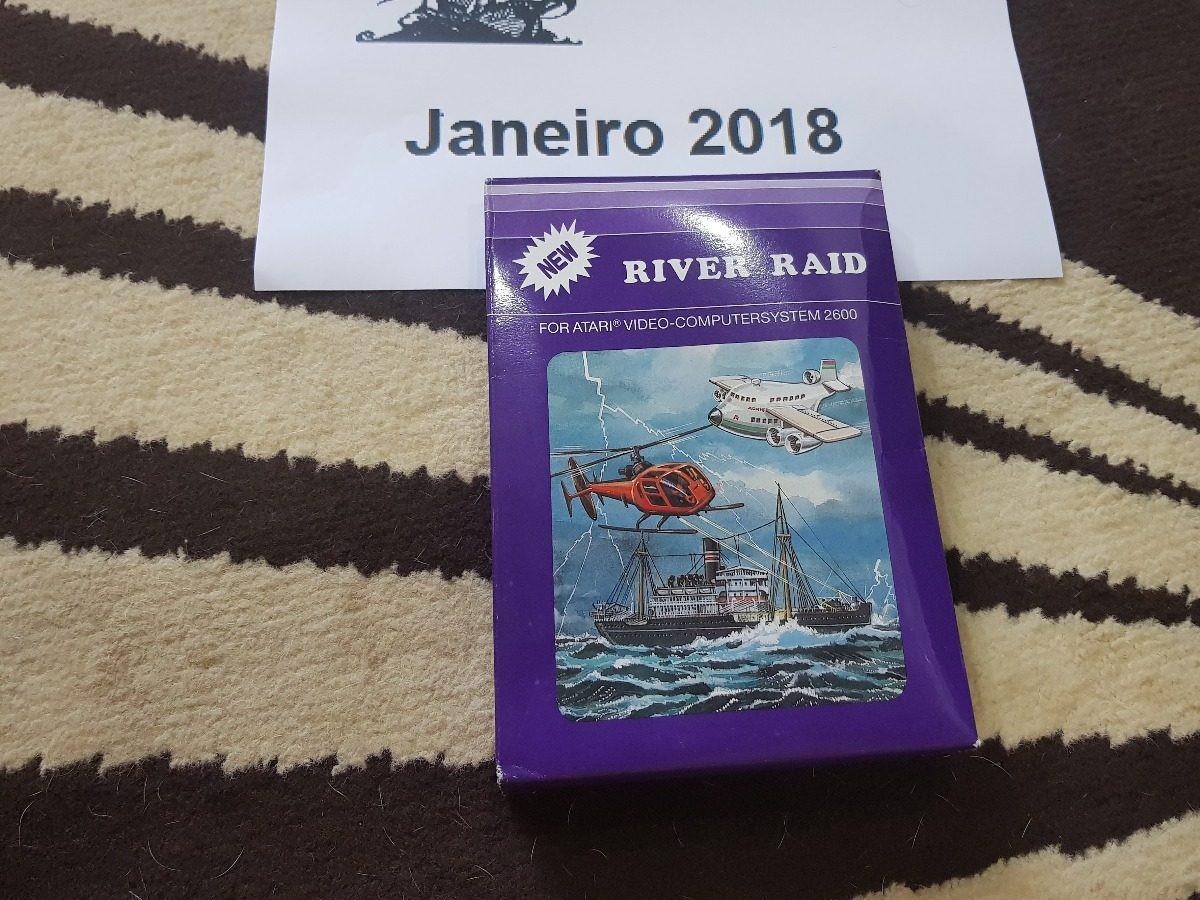 River Raid 1982 Caixa da Época Atari 2600