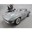 Corvette Stingray 1963 Prata Kinsmart 1:36