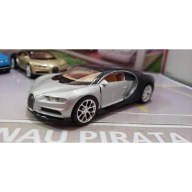 Bugatti Chiron 2017 Prata Welly 1:38