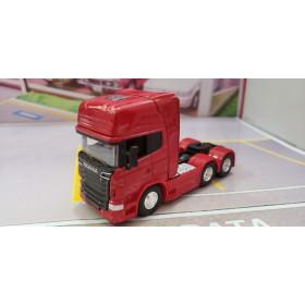 Caminhão Scania V8 R730 Trucado Vermelho 1:64 Welly