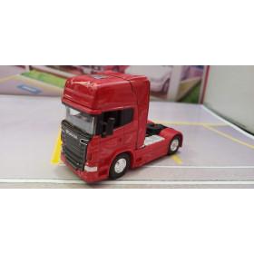 Caminhão Scania V8 R730 Vermelho 1:64 Welly