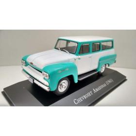 Carros Inesquecíveis do Brasil Chevrolet Amazonas 1963 Verde/Branco 1:43 IXO
