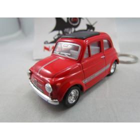Chaveiro Fiat 500 (Cinquecento) Vermelho Kinsmart 1:64