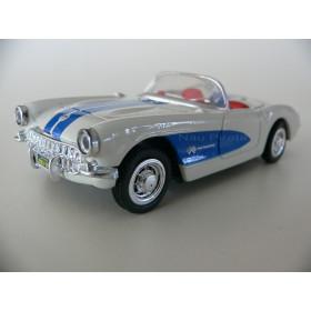 Chevrolet Corvette 1957 Branco e Azul  New Ray 1:43