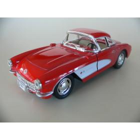Chevrolet Corvette 1957 Vermelho & Branco Kinsmart  1:34
