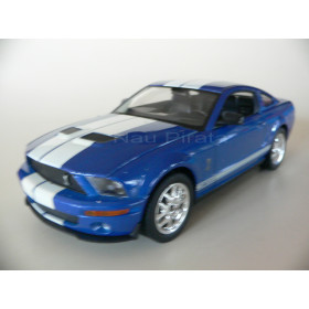 Ford Mustang Shelby Cobra GT 500 2007 Azul Welly 1:24
