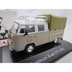 Miniatura Carros Inesquecíveis do Brasil VW Kombi CD 1981 Carretos 1:43
