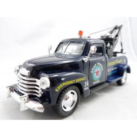 Pickup Chevrolet 3100 Wrecker 1953 Reboque Azul - Kinsmart 1:38