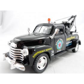 Pickup Chevrolet 3100 Wrecker 1953 Reboque Guincho Preto - Kinsmart 1:38