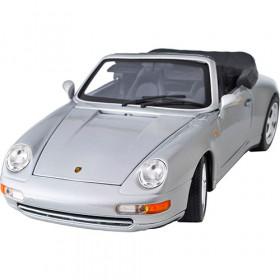 Porsche 911 Carrera Cabriolet 1994 Prata Série Gold Burago 1:18